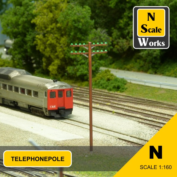 Telephone Pole Kit N Scale