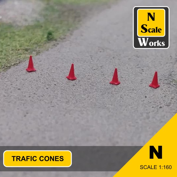 Traffic cones N Scale